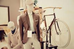 Tailor verify bespoke suit. Vintage Stock Photos