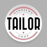 Tailor vintage sign sticker.  Royalty Free Stock Photography