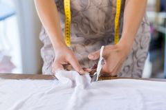 Tailor woman at work Royalty Free Stock Photography
