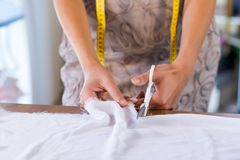 Tailor woman at work Royalty Free Stock Photo