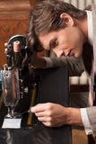 Tailor at work. Stock Photos