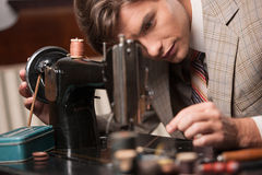 Tailor at work. Royalty Free Stock Images