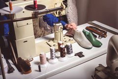 Tailor working in the atelier Royalty Free Stock Image