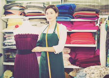 Tailor working at dress Royalty Free Stock Images