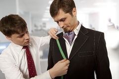 Tailor working in a workshop Royalty Free Stock Photo
