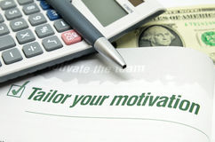 Tailor your motivation Stock Image