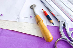 Tailored. Bespoke suit template and tools,tailored Stock Images