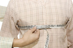 Tailored shirt measure of breast Stock Image