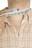 Tailored shirt measure neck Stock Images