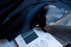 Tailoring. Composition to take measurements of a jacket Royalty Free Stock Photography