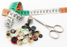 Tailoring button Royalty Free Stock Images