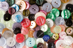 Tailoring buttons variety Stock Images