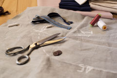 Tailoring equipment Stock Photography