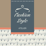Tailoring of fabric, fur and leather. Logo Stock Photos