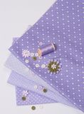 Tailoring Hobby Accessories. Sewing Craft Kit.  Stock Photo