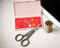 Tailoring Hobby Accessories. Sewing Craft Kit Stock Images