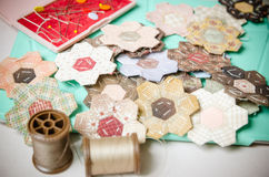 Tailoring Hobby Accessories. Sewing Craft Kit Stock Photography
