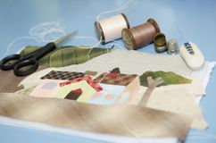 Tailoring Hobby Accessories. Sewing Craft Kit. Quilting Stock Image