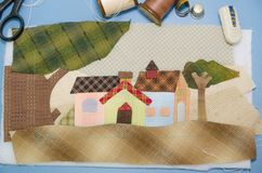 Tailoring Hobby Accessories. Sewing Craft Kit Stock Photos