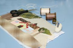 Tailoring Hobby Accessories. Sewing Craft Kit Royalty Free Stock Photos