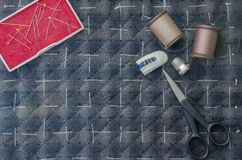Tailoring Hobby Accessories. Sewing Craft Kit,Quilting Royalty Free Stock Photography