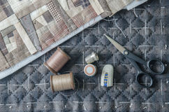 Tailoring Hobby Accessories. Sewing Craft Kit,Quilting Stock Photo