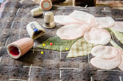 Tailoring Hobby Accessories. Sewing Craft Kit,Quilting Stock Photography