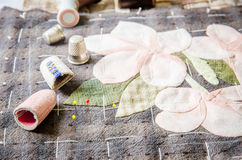 Tailoring Hobby Accessories. Sewing Craft Kit,Quilting Stock Photos