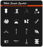 Tailoring icon set. Tailoring  icons for user interface design Royalty Free Stock Images