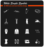 Tailoring icon set. Tailoring  icons for user interface design Stock Photo