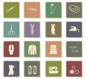 Tailoring icon set. Tailoring  icons for user interface design Royalty Free Stock Image