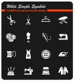 Tailoring icon set. Tailoring web icons for user interface design Stock Images
