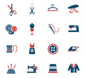 Tailoring icon set. Tailoring web icons for user interface design Stock Photos