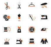 Tailoring icon set Royalty Free Stock Images