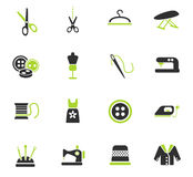 Tailoring icon set. Tailoring web icons for user interface design Royalty Free Stock Image