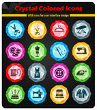 Tailoring icon set Stock Photo