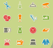 Tailoring icon set. Tailoring web icons for user interface design Royalty Free Stock Images