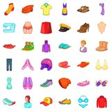 Tailoring icons set, cartoon style Stock Photography