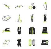 Tailoring icons set Stock Image