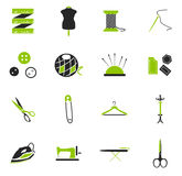 Tailoring icons set Royalty Free Stock Photography
