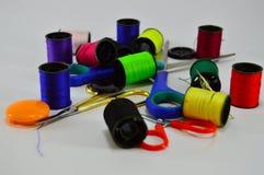 Tailoring items. Scissors, papiota, business Stock Image