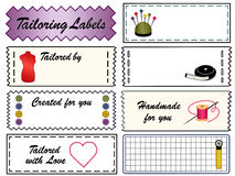 Tailoring Labels royalty free illustration