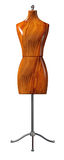 Tailoring mannequin. Front view of a wooden tailoring mannequin Royalty Free Stock Images