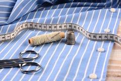 Tailoring a Mens Dress Shirt Royalty Free Stock Photos