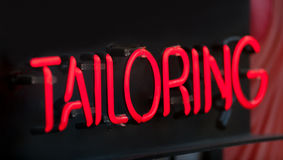 Tailoring Neon Sign Royalty Free Stock Photography