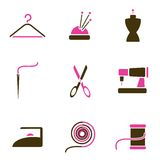 Tailoring object icon set vector Stock Images