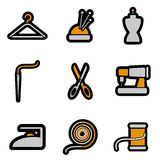 Tailoring object icon set vector Stock Photography
