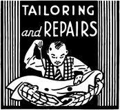 Tailoring And Repairs Stock Images
