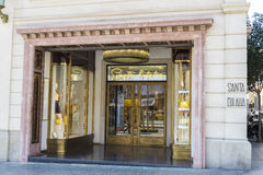 Tailoring Santa Eulalia, Barcelona Royalty Free Stock Images