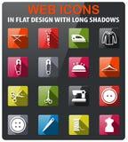 Tailoring simply icons Stock Photos